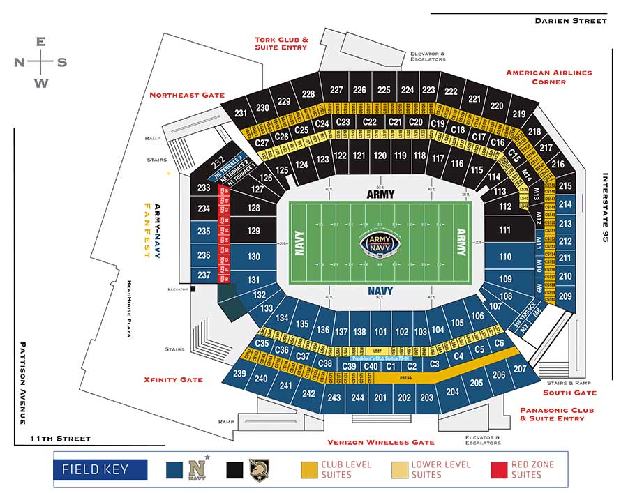 Navy Football Stadium Seating Diagram Parts Auto Parts